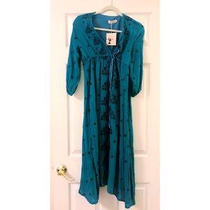 Dresses & Skirts - Teal bohemian midi/maxi dress.